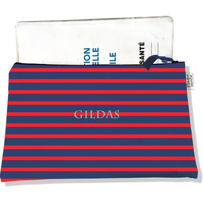 Protège carnet de santé personnalisable zippé pour homme CSZ2170
