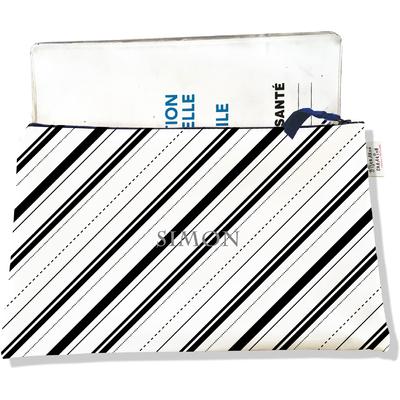 Protège carnet de santé personnalisable zippé pour homme CSZ2504