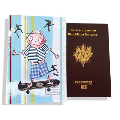 Protège passeport garçon enfant Skateur A2210