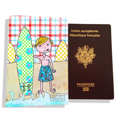 Protège passeport garçon enfant Surfeur D793