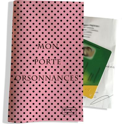 Porte ordonnance personnalisable pour femme Pois