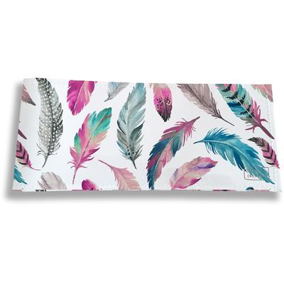 Porte-chéquier long horizontal pour femme Plumes multicolores PC6003-2019