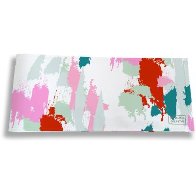 Porte-chéquier long horizontal pour femme Taches Peinture multicolores PC6005-2019