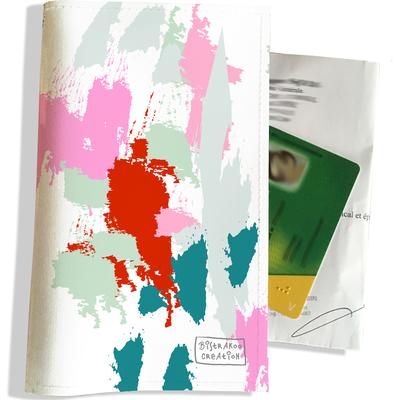 Porte ordonnance et carte vitale Taches Peinture multicolores PO6001-2019