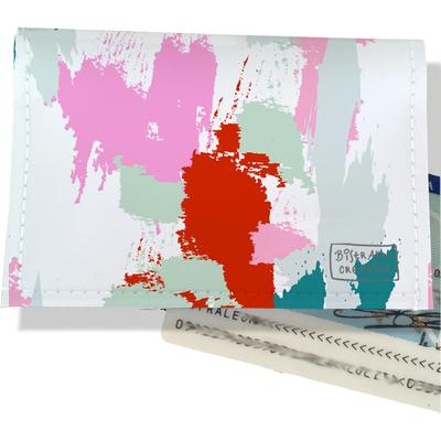 Porte-carte d'identité pour femme Taches Peinture multicolores CI6001-2019
