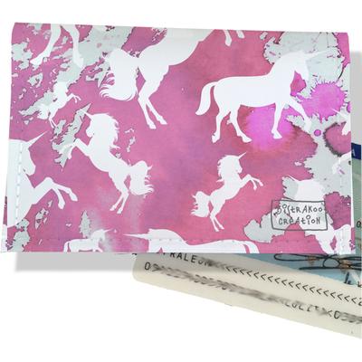 Porte-carte d'identité pour femme Licorne rose CI6006-2019