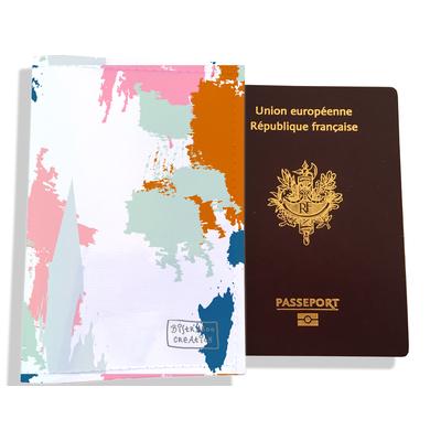 Protège passeport femme Taches Peinture multicolores PP6013-2019