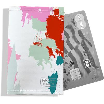 Porte-carte bancaire femme Taches Peinture multicolores PCB6001-2019