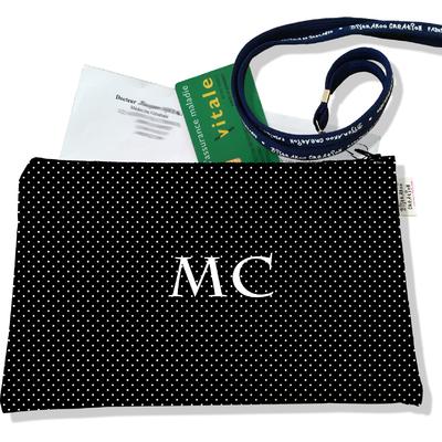 Porte ordonnances personnalisable zippé femme Pois