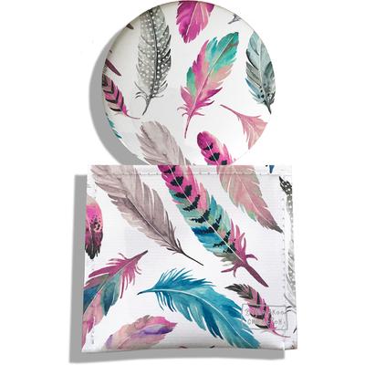 Miroir de Poche avec étui, Miroir de Maquillage Plumes multicolores MP6003-2019