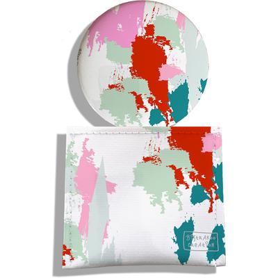 Miroir de Poche avec étui, Miroir de Maquillage Taches Peinture multicolores MP6005-2019