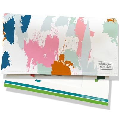 Porte-chéquier pour femme Taches Peinture multicolores PCP6013-2019