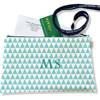 Porte ordonnances personnalisable zippé pour femme Graphique