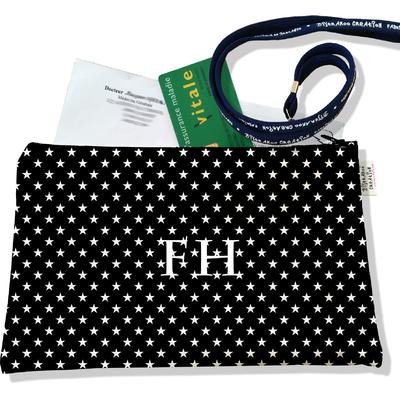 Porte ordonnances personnalisable zippé pour femme Etoiles