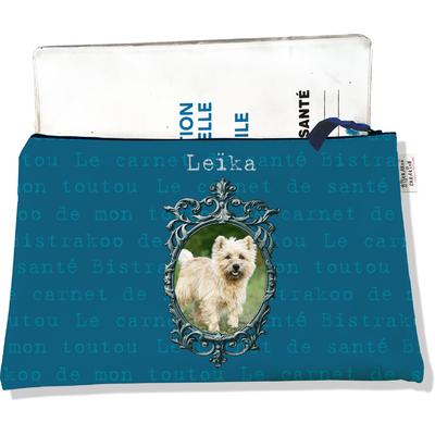 Protège Carnet de Santé personnalisable zippé pour chien CSZ2261-2019