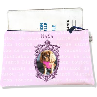 Protège Carnet de Santé personnalisable zippé pour chienne CSZ779-2019