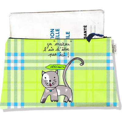 Protège Carnet de Santé zippé pour chatte CSZ2203-2019