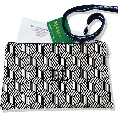 Porte ordonnances personnalisable zippé pour homme Graphique