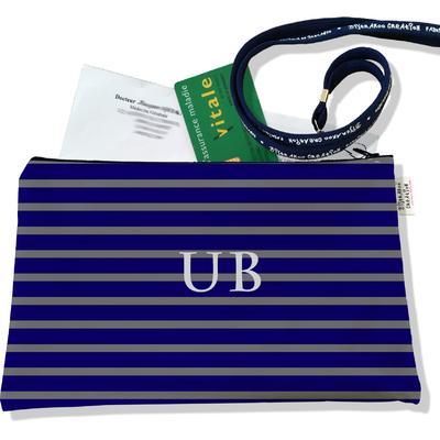 Porte ordonnances personnalisable zippé pour homme Marinière