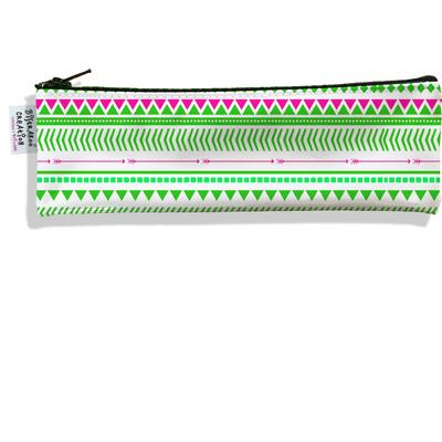 Trousse à brosse à dents Graphique rose et vert 2519