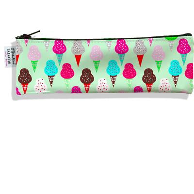 Trousse à brosse à dents Glaces multicolores fond vert 2310