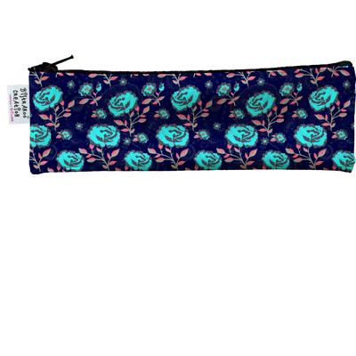 Trousse à brosse à dents Floral bleu et rouge 3262-2017