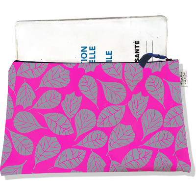 Protège carnet de santé zippé pour femme Feuillage PCZ6023
