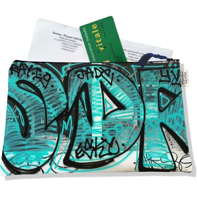 Porte ordonnances zippé pour femme Street art POZ6020