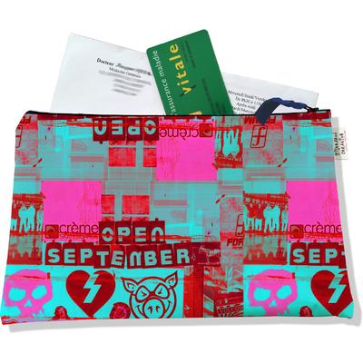 Porte ordonnances zippé pour femme Street art POZ6022
