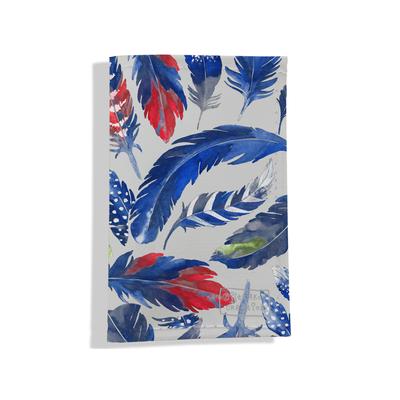 Porte carte grise pour femme Plumes bleues PCG6026