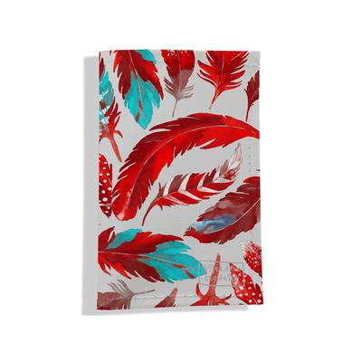 Porte carte grise pour femme Plumes rouges PCG6027