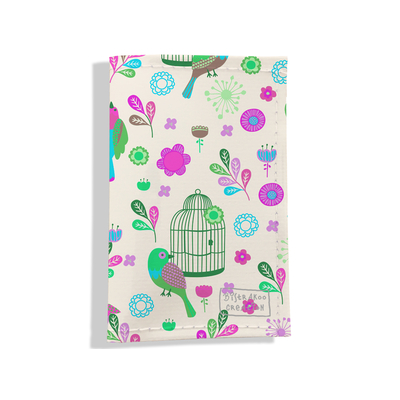 Porte carte grise pour femme Oiseaux et cages PCG6029
