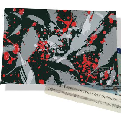 Porte carte d'identité pour femme Plumes grises PCI6025