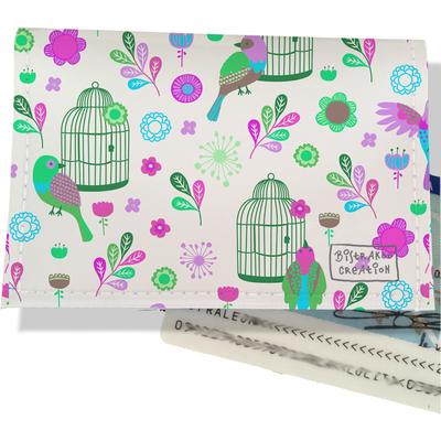 Porte carte d'identité pour femme Oiseaux et cages PCI6029