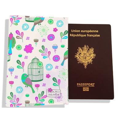 Protège passeport pour femme Oiseaux et cages PP6029