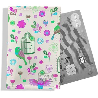 Porte-carte bancaire femme Oiseaux et cages PCB6029