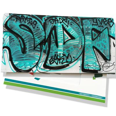 Porte-chéquier pour femme Street art PCP6020