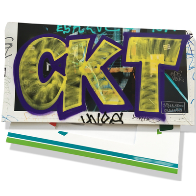 Porte-chéquier pour femme Street art PCP6021