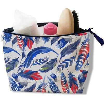 Trousse de toilette pour femme Plumes bleues TT6026