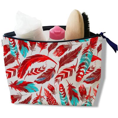 Trousse de toilette pour femme Plumes rouges TT6027