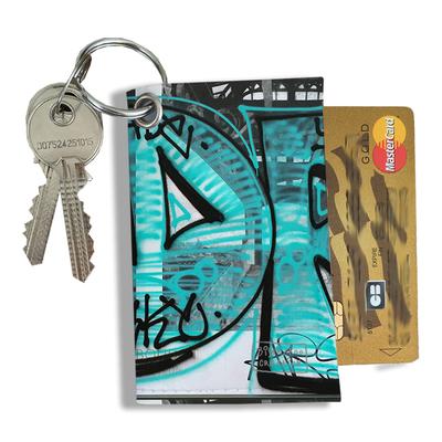 Porte-clés pratique pour cartes & photos femme, Etui porte-clés et cartes Street art PCC6020