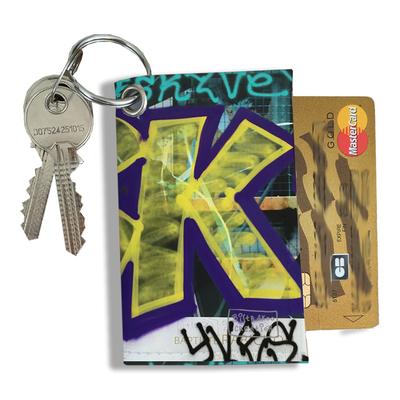 Porte-clés pratique pour cartes & photos femme, Etui porte-clés et cartes Street art PCC6021