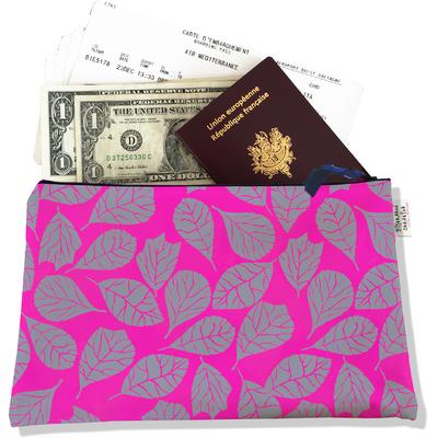 Pochette voyage, porte documents Feuillage PV6023