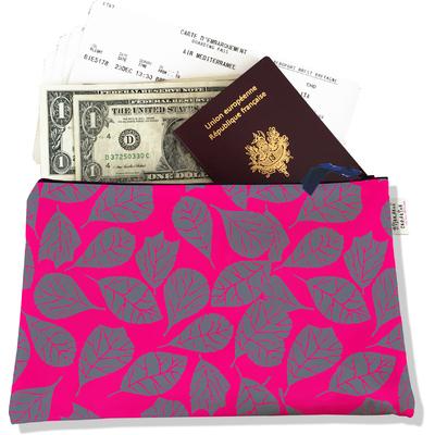 Pochette voyage, porte documents Feuillage PV6024