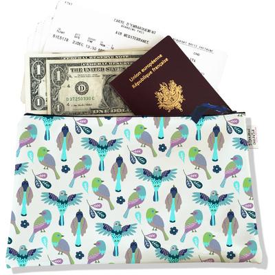 Pochette voyage, porte documents Oiseaux PV6028