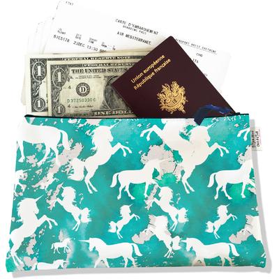 Pochette voyage, porte documents Licorne bleu PV6002-2015