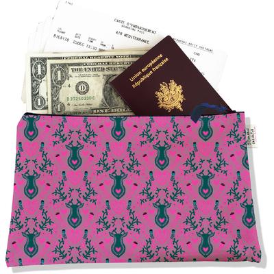 Pochette voyage, porte documents Scandinave rose et gris 3235-2017