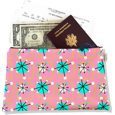 Pochette voyage, porte documents Atomic rose et bleu 3200-2017