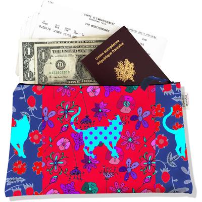 Pochette voyage, porte documents Chats PV810