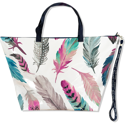 Grand Sac de voyage, sac week end Plumes multicolores SW6003-2019